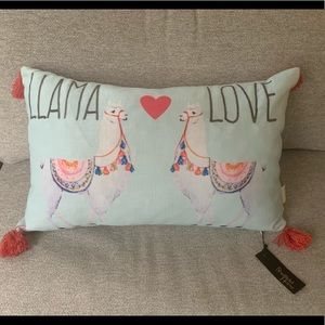 New Llama Love Accent Throw Pillow